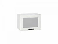 Шкаф верхний Прага ВГ500 со стеклом Белое дерево