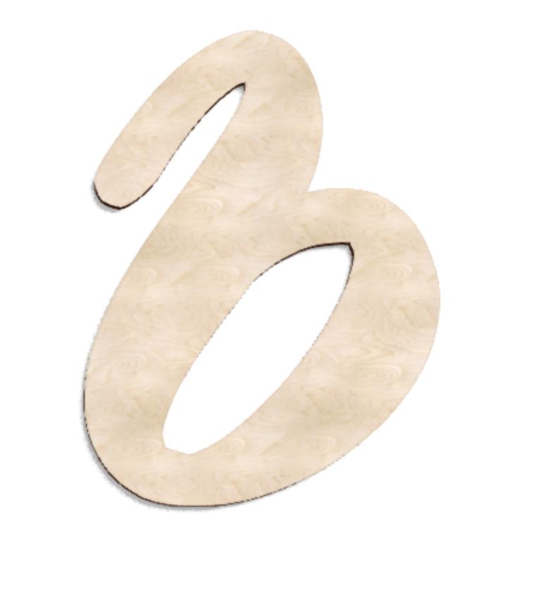 Деревянная буква Ь