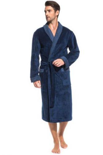 Махровый мужской халат Aristocrate джинс