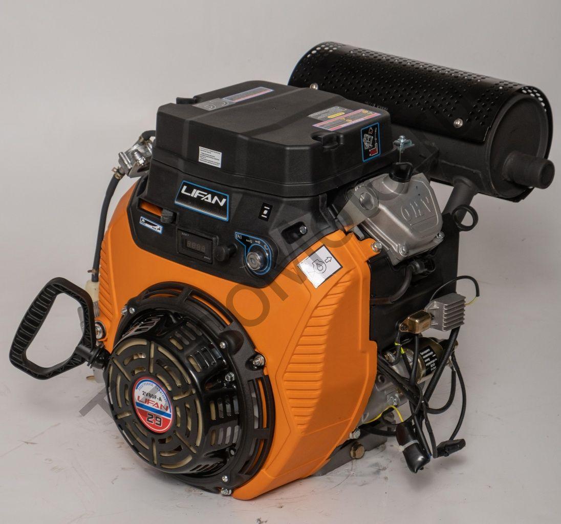 Двигатель Lifan LF2V80F-A, (29 л.с.) D25, 3А, ручной и электрический стартер