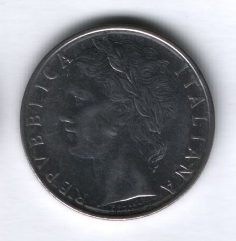 100 лир 1968 года Италия