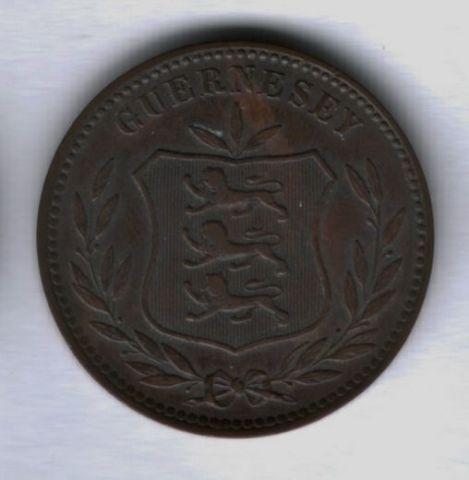 8 дублей 1893 года Гернси