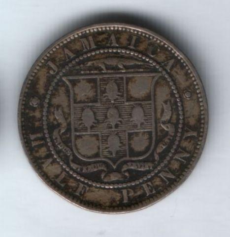1/2 пенни 1889 года Ямайка
