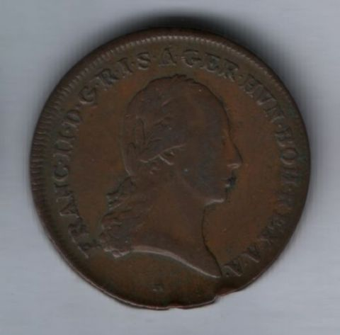 3 крейцера 1799 года Австрия XF-, редкий год