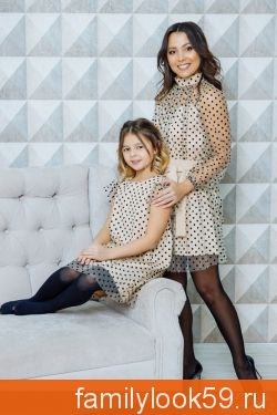 """Комплект платьев для мамы и дочки """"Сити"""""""