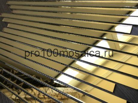 G300-2 Золотое зеркало. Мозаика зеркальная серия VANTAGGIO, 350*190*4 мм (VIVERE)