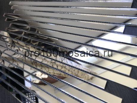 D300-2 Графитовое зеркало. Мозаика зеркальная серия VANTAGGIO, 350*190*4 мм (VIVERE)