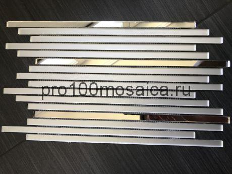 MS300-2 Серебряное зеркало+MAT. Мозаика зеркальная серия VANTAGGIO, 350*190*4 мм (VIVERE)