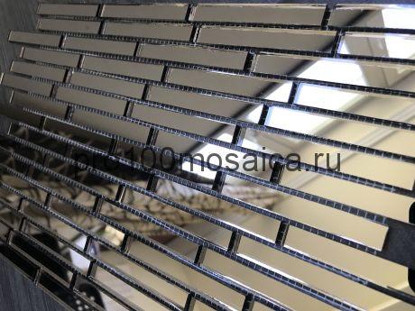 D74 Графитовое зеркало. Мозаика зеркальная серия VANTAGGIO, 347*190*4 мм (VIVERE)