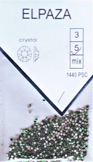 Стразы ELPAZA  CRYSTAL SS5 1440 шт. зеленые