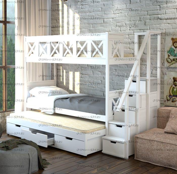 Кровать трехъярусная Прованс Factory №31
