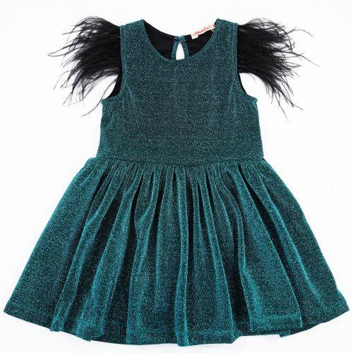 """Платье для девочки Bonito """"Festivity"""" изумрудное"""