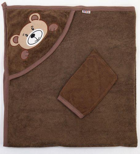 "Полотенце махровое для новорожденных 100х95 см Bonito ""Мишка"""