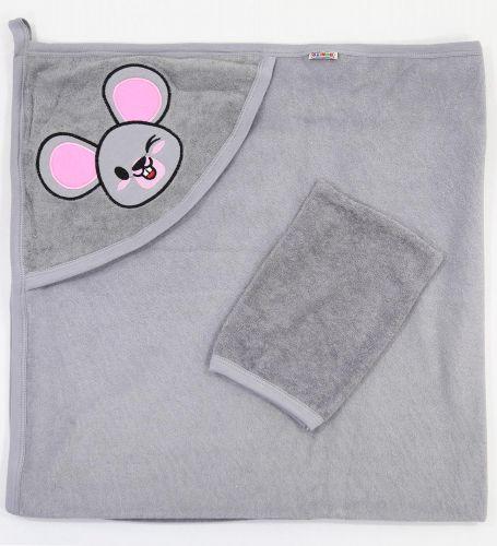 """Полотенце махровое для новорожденных 100х95 см Bonito """"Мышонок"""""""