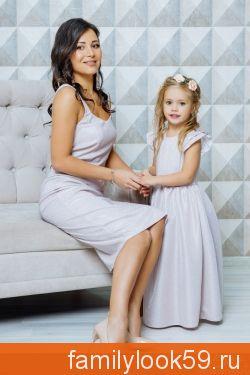 """Комплект нарядных платьев для мамы и дочки """"Джесика"""""""