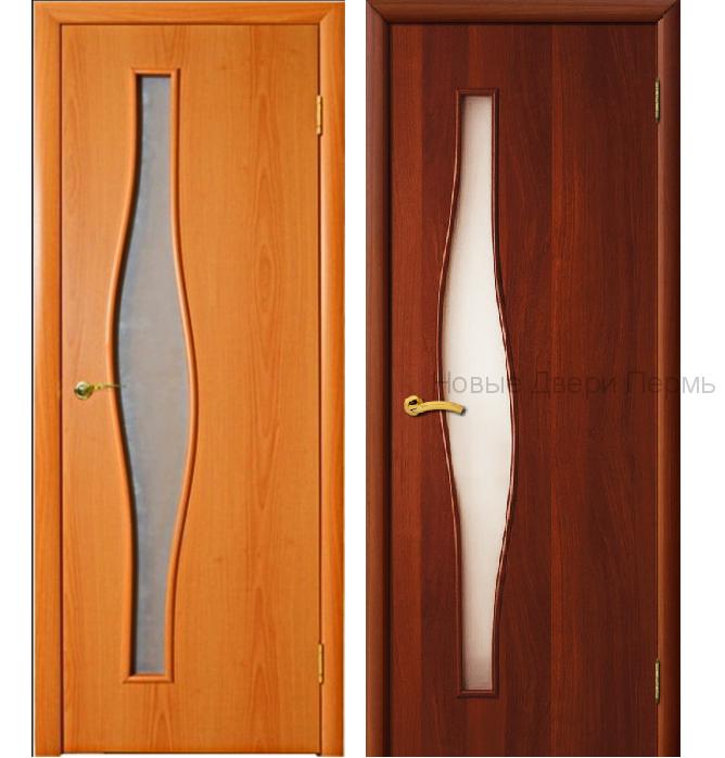 """""""С-10 Волна"""" ДО межкомнатная дверь со стеклом"""