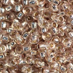 Бисер чешский 78113 прозрачный бежевый серебряная линия внутри Preciosa 1 сорт