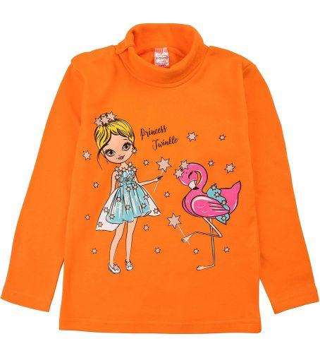 """Водолазка для девочек Bonito kids 1-4 года """"Princess"""" оранжевая"""