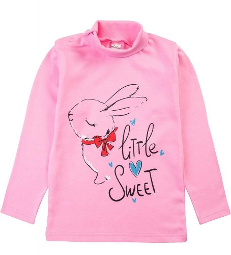 "Водолазка для девочек Bonito kids 1-4 года ""Little Sweet"" розовая"