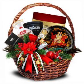 Подарочная корзина Новогодний вестник красный