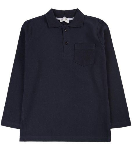 """Рубашка-поло для мальчика 7-11 лет. Bonito """"Casual"""" темно-синяя"""