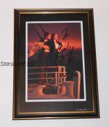 Автографы: Леонардо ДиКаприо, Кейт Уинслет. Титаник