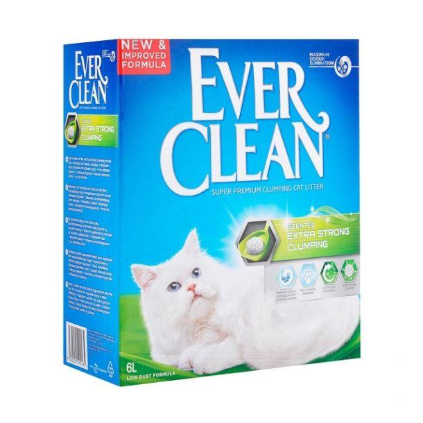 Наполнитель для кошек Ever Clean нейтрализует сильные запахи зеленая полоска 10л