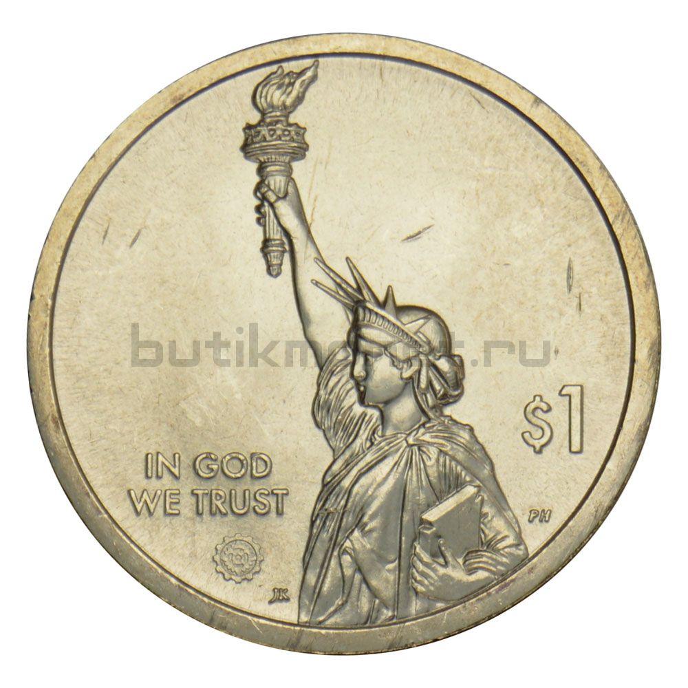 1 доллар 2019 США Лампа накаливания (Американские инновации) P