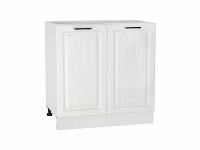Шкаф нижний с 2-мя дверцами Прага Н800 в цвете Белое дерево