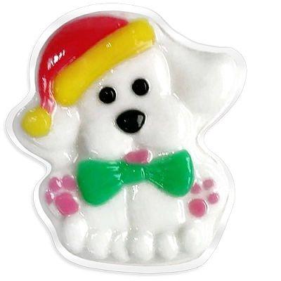 Liss Kroully Skin Juice Подарочное мыло туалетное фигурное Белая собака с бабочкой 80 гр