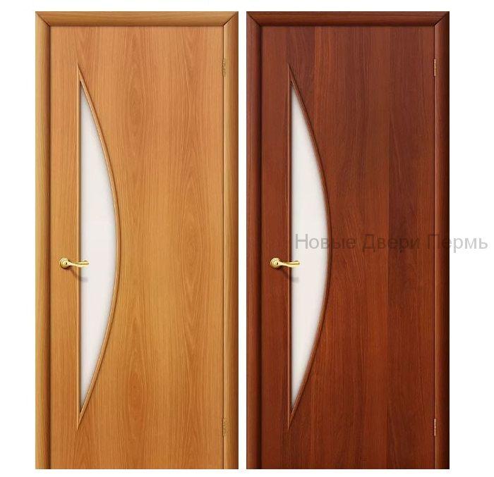 """""""С-6 Луна"""" ДО межкомнатная дверь со стеклом"""