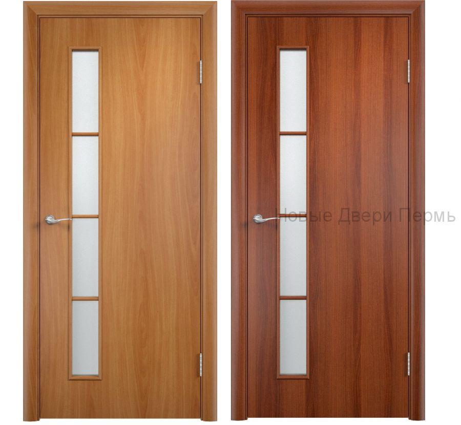 """""""С-14 Вертикаль"""" ДО ламинированная дверь со стеклом"""