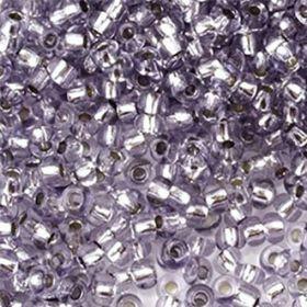 Бисер чешский 78121 прозрачный светло-фиолетовый серебряная линия внутри Preciosa 1 сорт