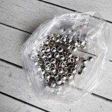 СЕРЕБРО Металлик Бусы 8 мм (в упаковке 100 шт)