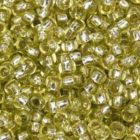 Бисер чешский 78153 прозрачный светло-салатовый серебряная линия внутри Preciosa 1 сорт