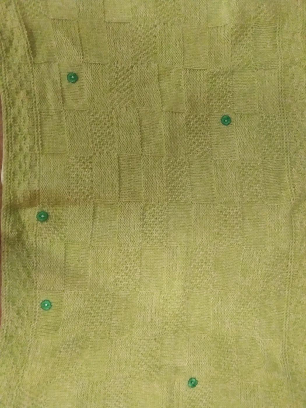 Детский вязаный плед(Фисташковый)