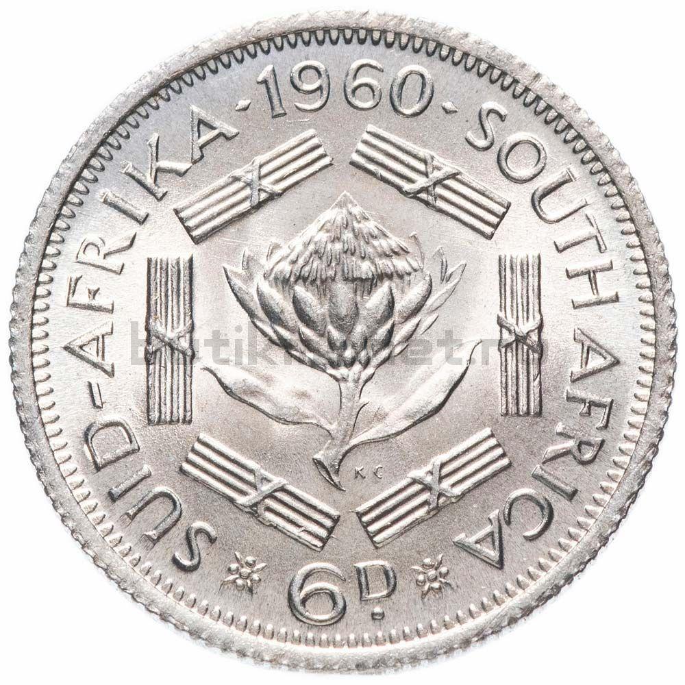 6 пенсов 1960 ЮАР