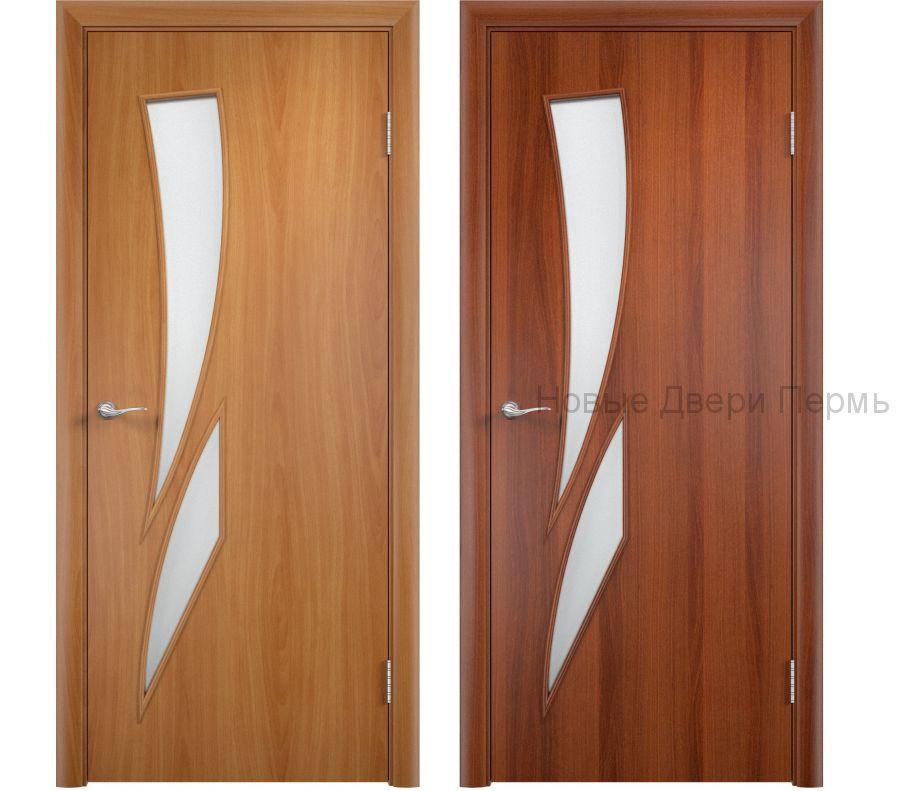 """""""С-2 Камея"""" ДО ламинированная дверь со стеклом"""
