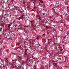 Бисер чешский 78192 прозрачный розово-сиреневый серебряная линия внутри Preciosa 1 сорт