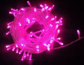 Светодиодная гирлянда уличная 10 метров Розовый