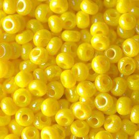 Бисер чешский 84110 непрозрачный желтый радужный Preciosa 1 сорт