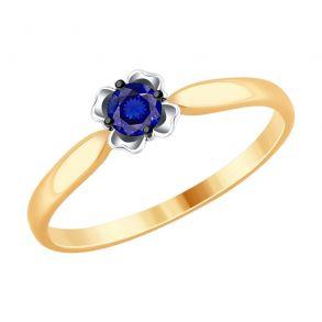 Кольцо из золота с сапфиром 2011107 SOKOLOV