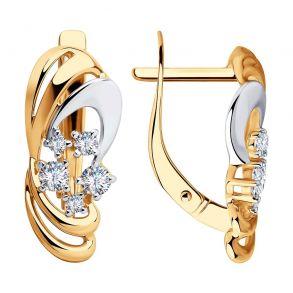 Серьги из золота с фианитами 028490 SOKOLOV