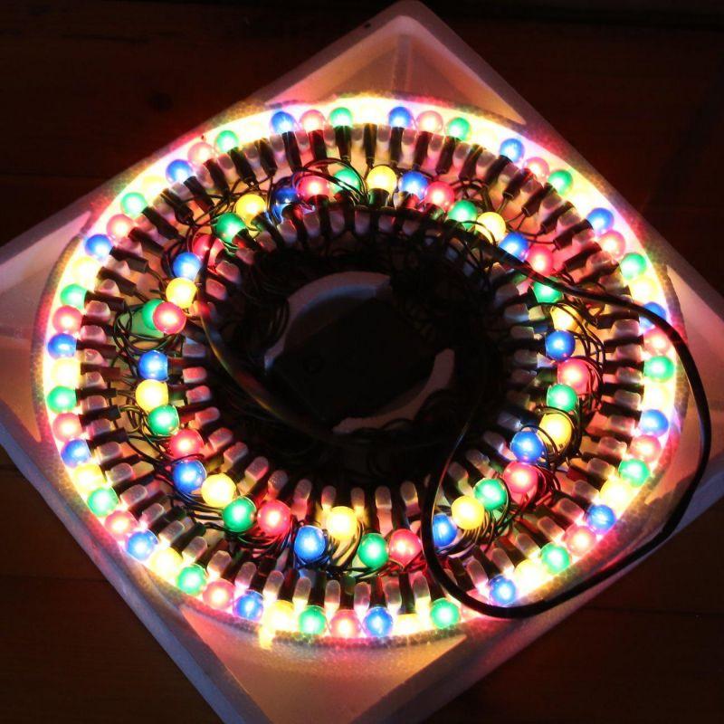 Гирлянда электрическая, 100 ламп-шаров