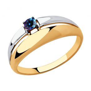 Кольцо из золота с синим Swarovski Zirconia 81010446 SOKOLOV