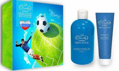 Liss Kroully Skin juice Парфюмерно-косметический подарочный набор MN-1805 Для мужчин Шампунь-гель для душа 2 в 1 300 мл + Гель для бритья 100 мл