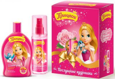 Clever Принцесса Подарочный набор Послушные кудряшки: Шампунь Послушные кудряшки 300 мл + спрей для волос Послушные кудряшки 200 мл