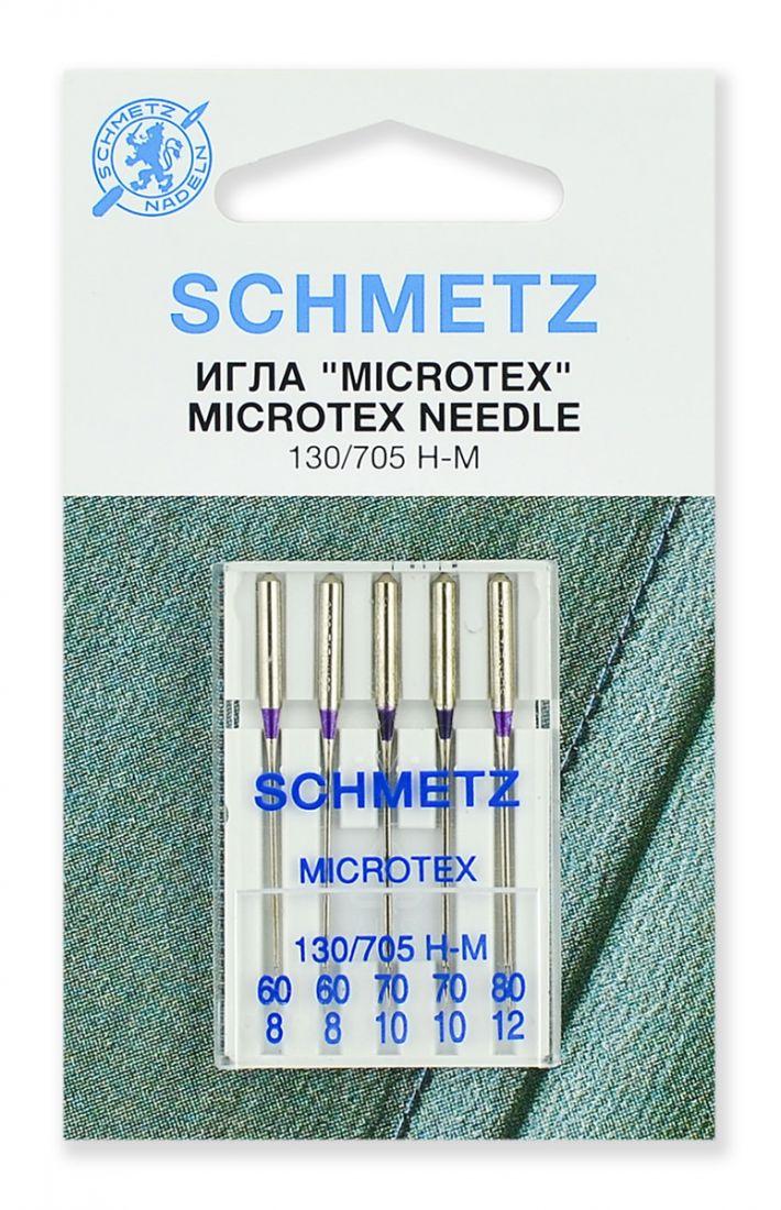 Иглы Schmetz микротекс, набор №60-80 (5шт.)