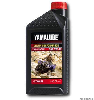 Yamalube 5W-30, 4-тактное минеральное для квадроциклов (0,946 л) LUB05W30AP12