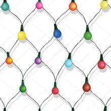 Гирлянда-сетка с цветным свечением 160 ламп 4 м